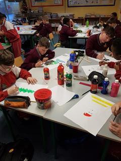 6th Class Christmas Art