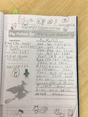 Halloween Writing in 2nd Class