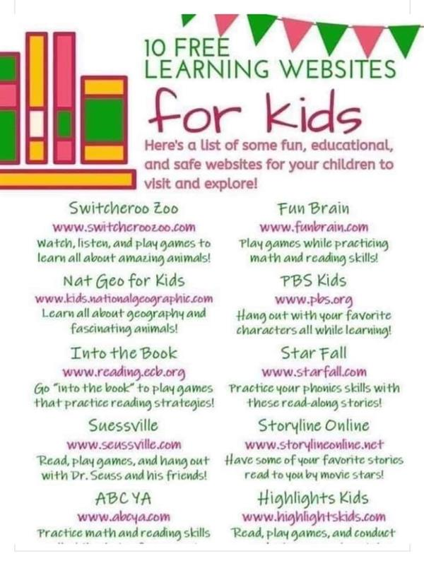 Websites for Parents and Children
