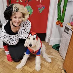 Happy Halloween from MCC School Therapy Dog Alfie