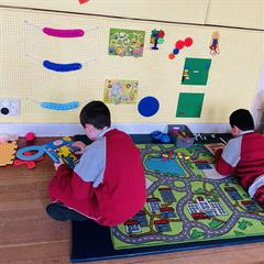 Our New Sensory Wall: The Yellow Corridor